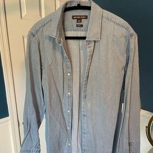 Michael Kors shirt, M, slim fit, blue chambray